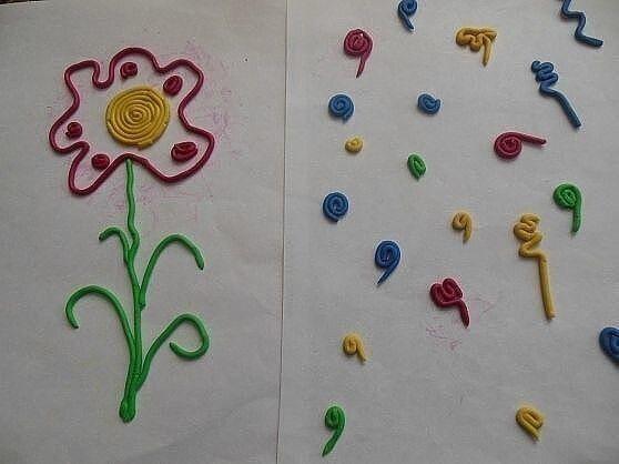 Живопись пластилином из шприца