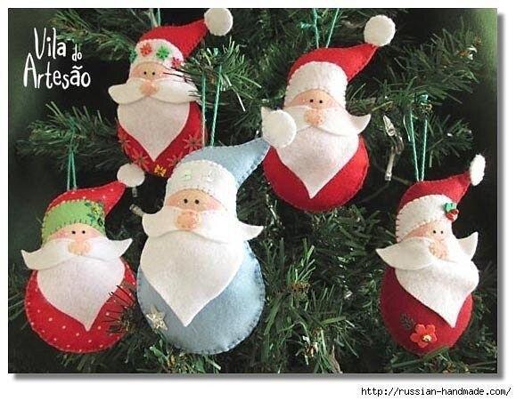 Дед Мороз из фетра 0