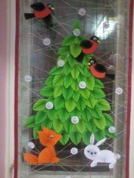 Оригинальное украшение для окна или для двери