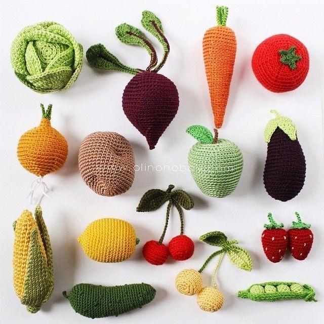 Вяжем с детьми овощи крючком