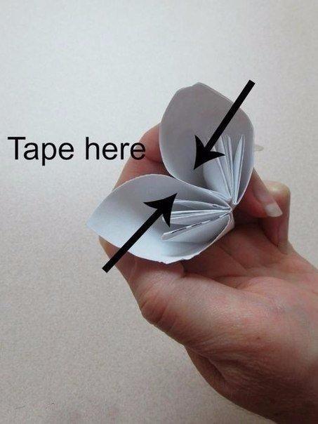 Букет для любимой мамы оригами