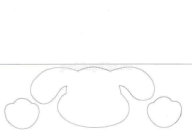 Поделка из бумаги в виде собачки
