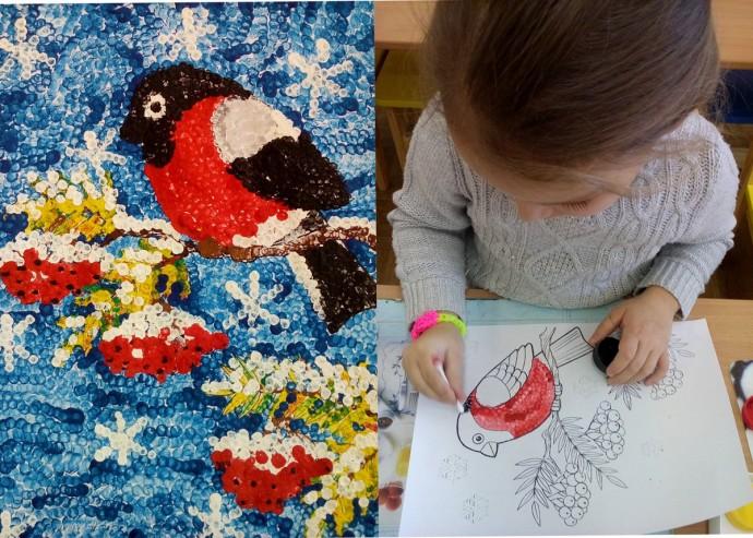 Рисуем с детьми ватными палочками