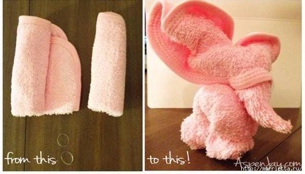 Слоник из полотенца 2