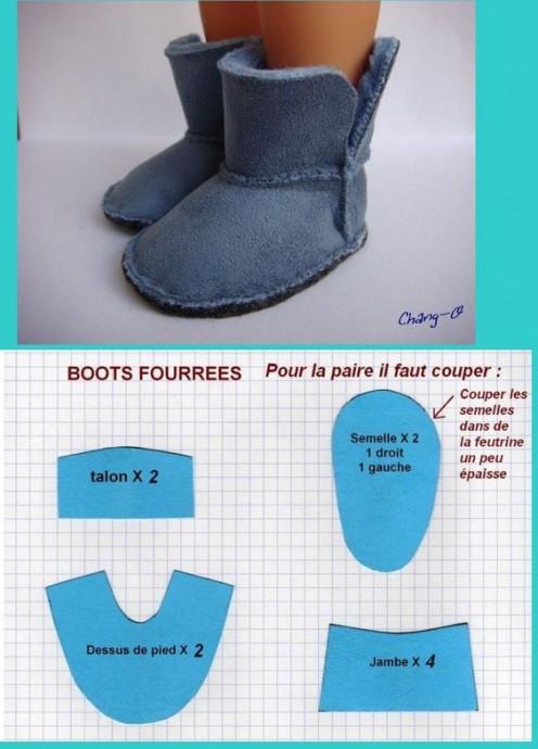 Много вариантов, как сделать обувь для игрушек