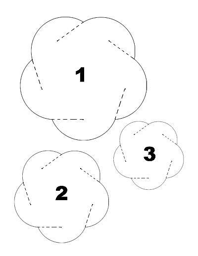 Новогодний шар из плотной бумаги с голографическим покрытием