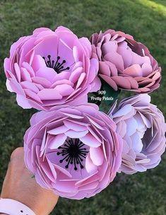 Пышные цветы из бумаги