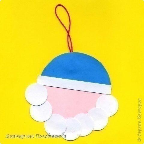 Дед Мороз на ёлку из кружочков