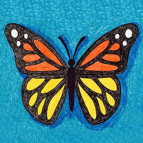 Создаем яркую красочную бабочку