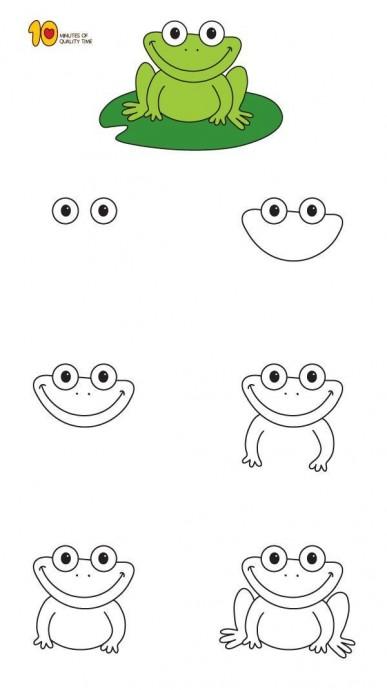 Как нарисовать лягушку