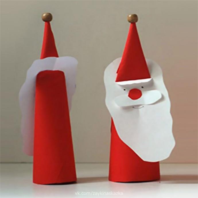Дед Мороз из плотной бумаги 3