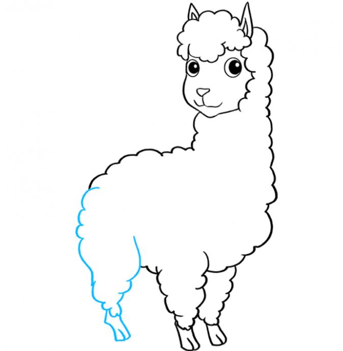 Рисуем с детьми ламу