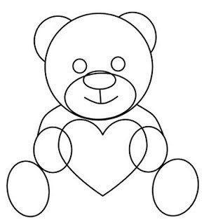Как нарисовать медвежонка с сердечком 4