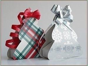 """Новогодняя коробочкa для подарков """"Ёлочка"""""""
