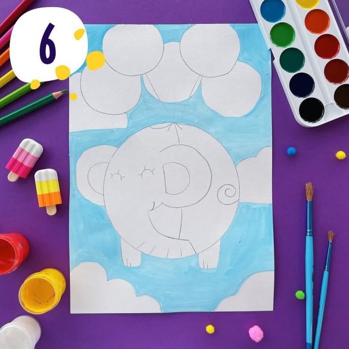 Слоник с воздушными шарами