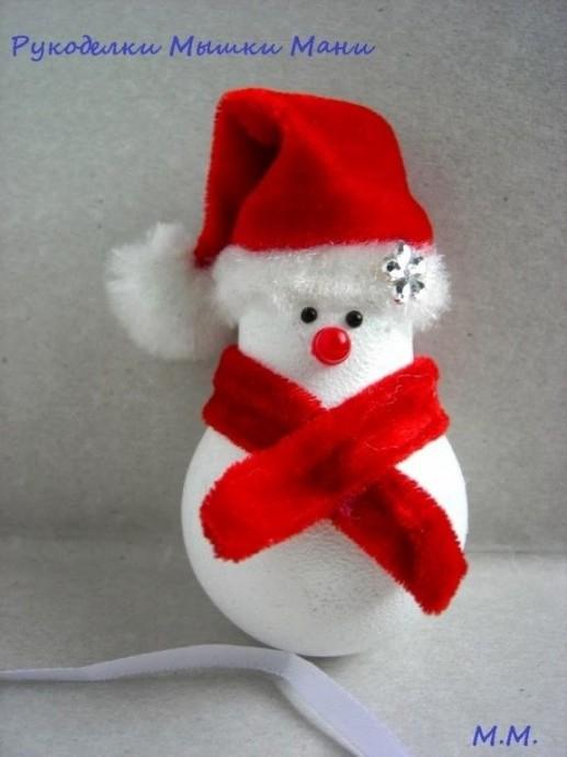 Снеговик из перегоревшей лампочки 3