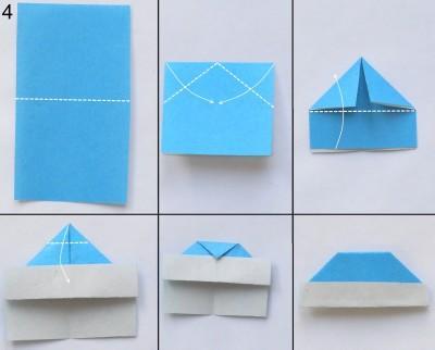 Снегурочка в технике оригами 4