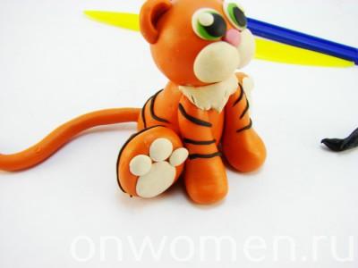 Тигр из пластилина