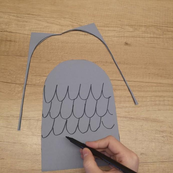 Ворона из цветной бумаги