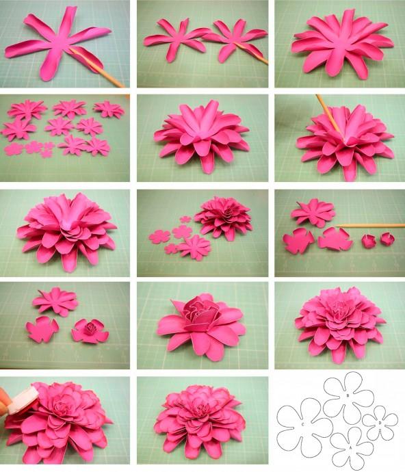 Цветы из бумаги для украшения любых праздников