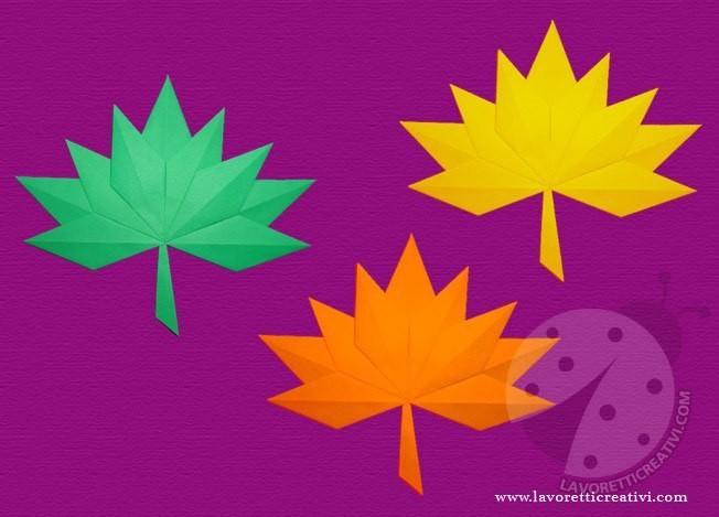 Красивые осенние листья из бумаги