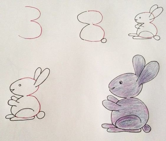 Учимся рисовать с помощью цифр