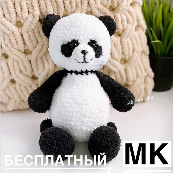 Панда амигуруми 0