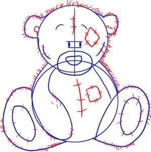 Рисуем мишку Тедди 3