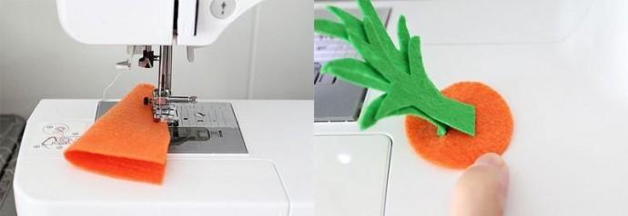 Детская развивающая игрушка «Веселая грядка» своими руками 2
