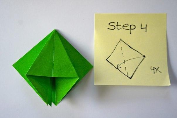 Бумажная елочка-оригами 4