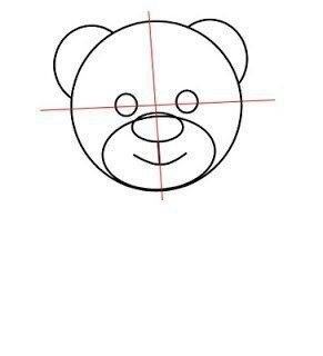 Как нарисовать медвежонка с сердечком 2
