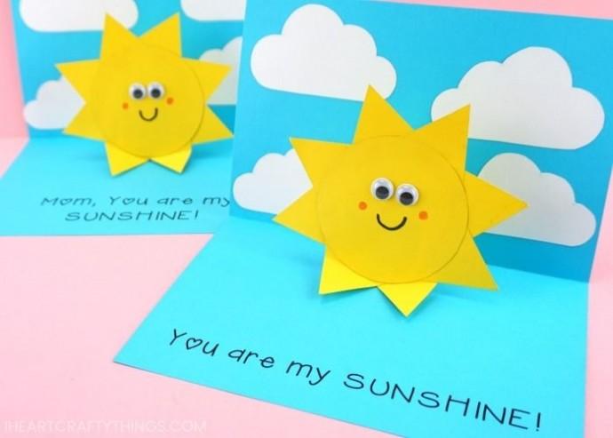 Объемная открытка с солнышком