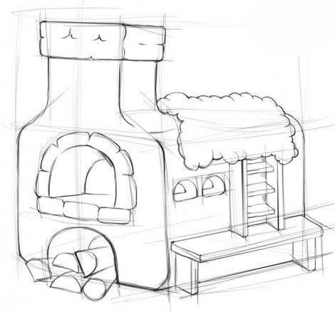 Рисуем печь 2