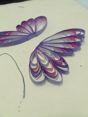 Бабочка в технике квиллинг