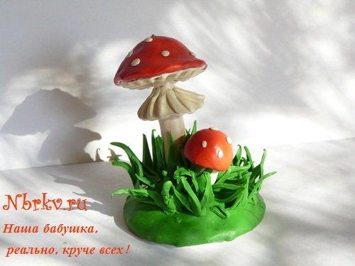 картинки из пластилина грибы ламинат только