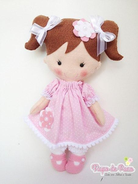 Очаровательные куколки из фетра 0