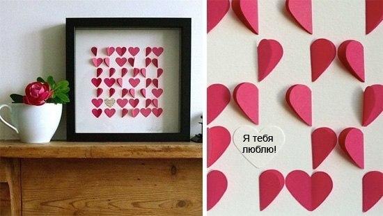 Оригинальная картина с сердечками
