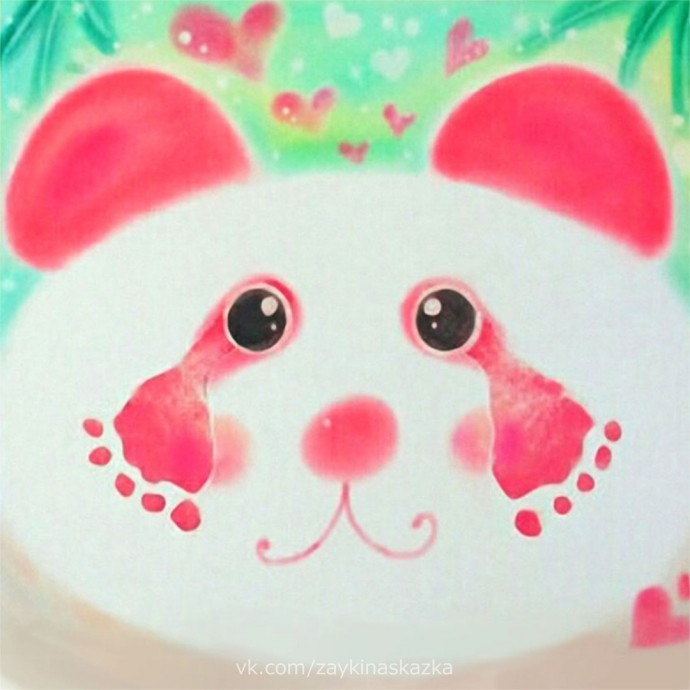 Рисуем панду ножками 8