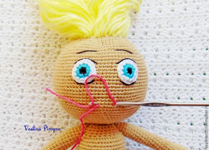 Как оформить лицо куколке 7