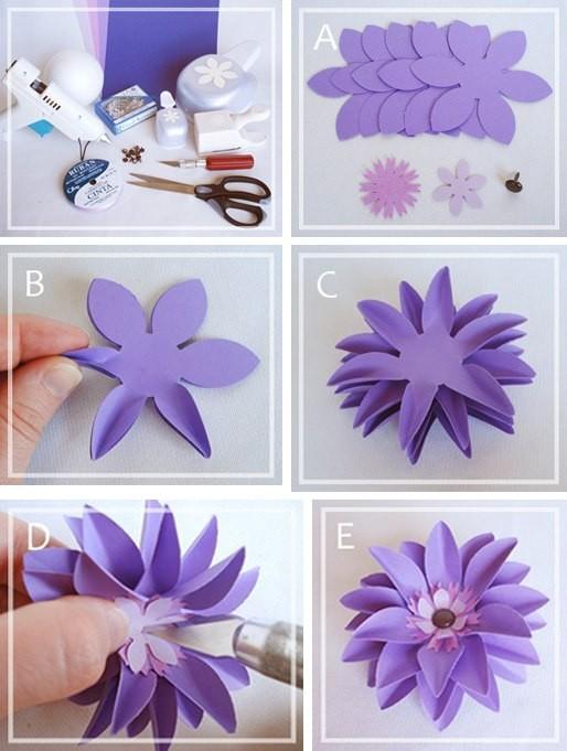 Цветок из бумаги 2
