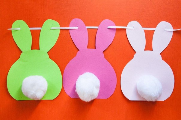 Гирлянда-кролики для декора