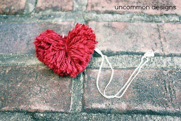 Помпон-сердечко