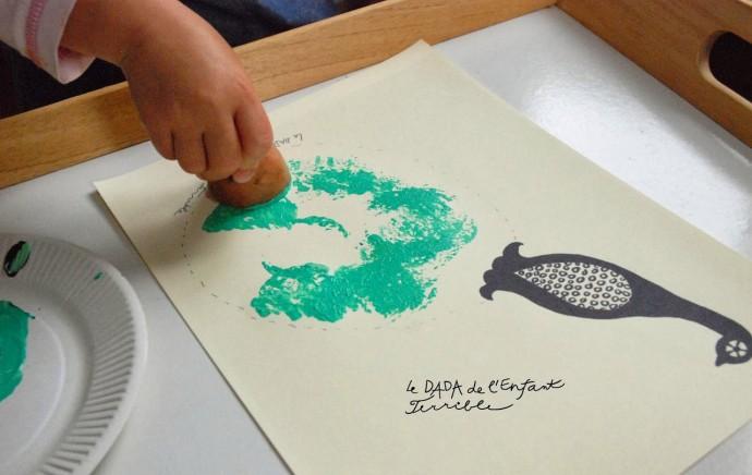 Рисуем с детьми павлинов