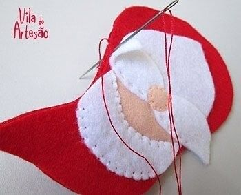 Дед Мороз из фетра 6