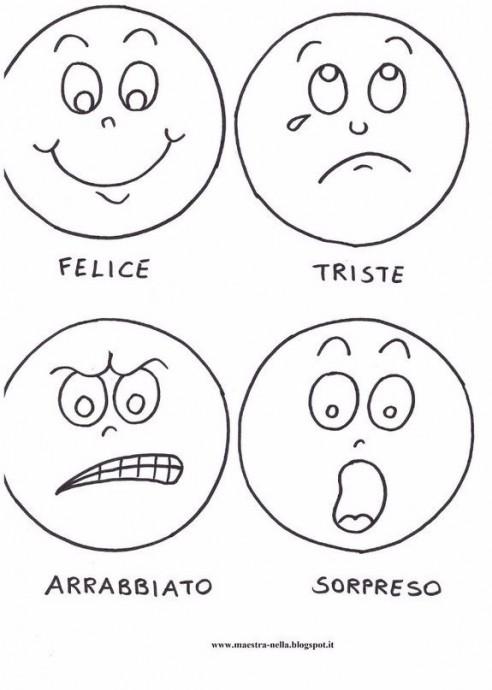 Кукла с разными эмоциями