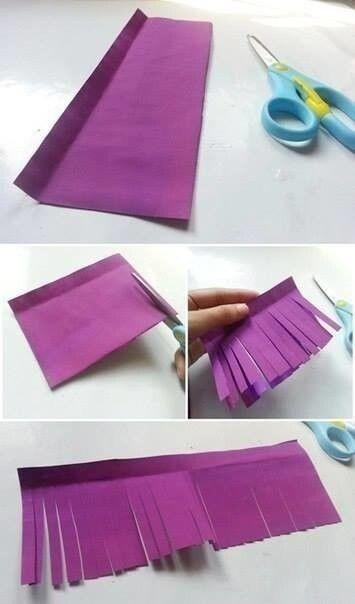 Гиацинты из завитой бумаги