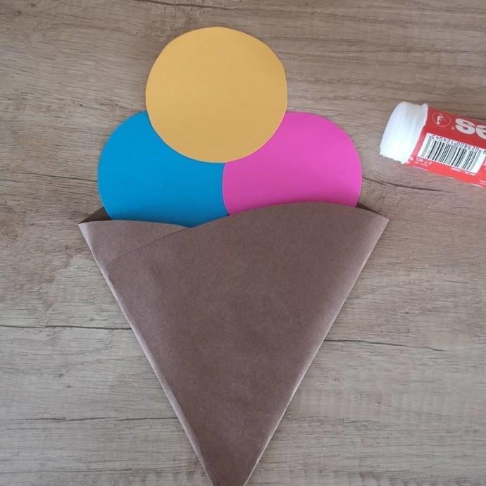 Летняя бумажная поделка «Любимое Мороженое»