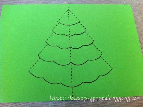 Новогодняя открытка, которую сделают и малыши 2