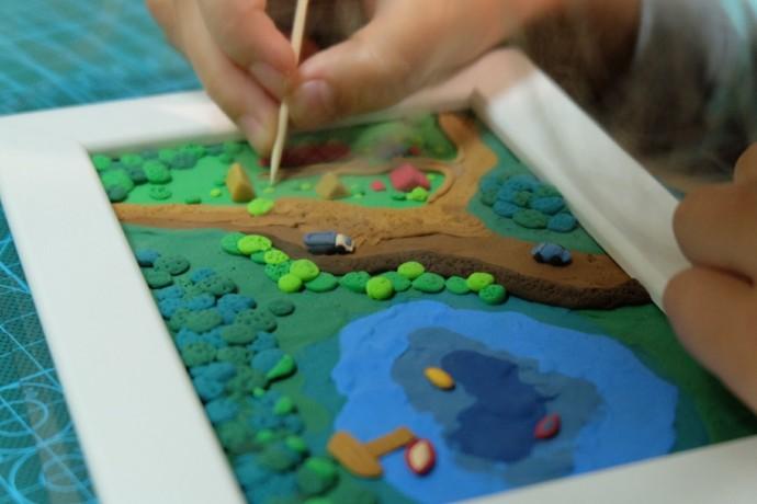 Рисуем на бумаге пластилином: идеи