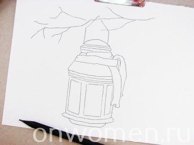 Рисуем с детьми фонарик